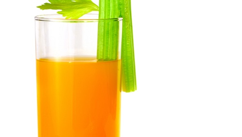 Orange juice and celery